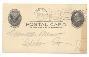 UX18 - 1c McKINLEY - POSTAL CARD - CV: $0.35  - LOT 1476