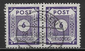 Germany East Saxony 15N18 6pf Numerals Pair Used