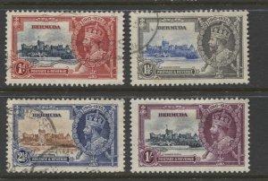 STAMP STATION PERTH Bermuda #100-103 Silver Jubilee Set MH/Used CV$24.00