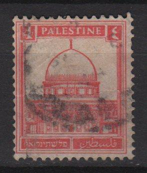 Palestine 1927 - Scott 65 used - 4m, Mosque of Omar