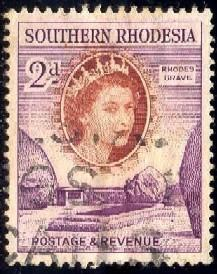 Rhodes Grave, Southern Rhodesia stamp SC#83 used