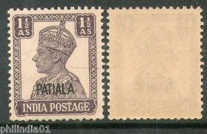 India PATIALA State KG VI 1½An Postage Stamp SG 108 / Sc 107 Cat £14 MNH