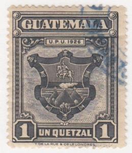 Guatamala, Sc # 244, CTO-H, 1929, Coat of Arms