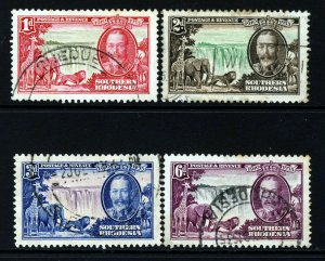SOUTHERN RHODESIA KG V 1935 Complete Silver Jubilee Set SG 31 to SG 34 VFU