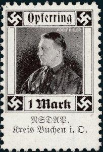 Stamp Germany Revenue WWII 3rd Reich Charity Kreis Buchen Adolf Hitler MNH