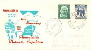 Australian Antarctic Territory Scott L6-L7 Rubberstamp Address.