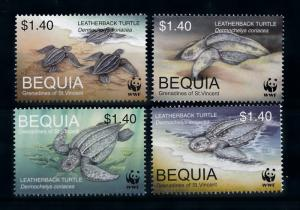 [78535] Bequia Grenadines St. Vincent 2001 Turtles WWF  MNH