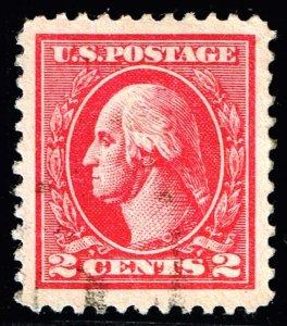 US STAMP #528B – 1920 2c Washington Perf 11 carmine TVII XFS SUPERB