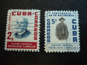 Stamps - Cuba - Scott#537-538 - Used Set of 2 Stamps