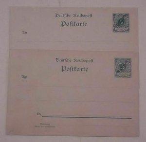 GERMAN SAMOA POSTAL CARDS #1,3  MINT cat.$73.00