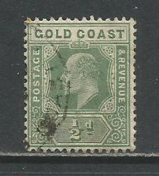Gold Coast   #56  Used  (1907)  c.v. $0.40