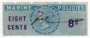 (I.B) Malaya (Straits Settlements) Revenue : Marine Policies 8c