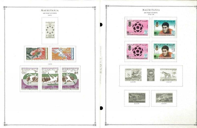 Mauritani 1941-1990 M & CTO Hinged on Scott International Pages Rhtough 1995