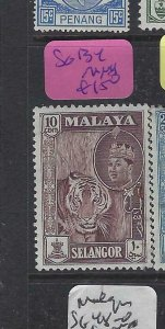MALAYA  SELANGOR  (PP2901B)  TIGER   10C  SG 134   MNH