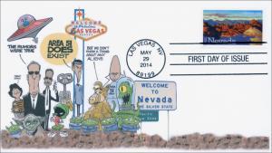 SC 4907, 2014 Nevada Statehood, Area 51, FDC, Item 14-095