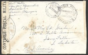 Doyle's_Stamps: Censored WWII Cameron to Sioux Falls, SD, Postal History