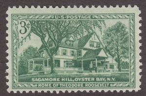 USA 1023 Hinged 1953 Theodore Roosevelt's Home