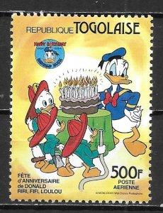 Togo 1237 1984 Donald Duck single MNH