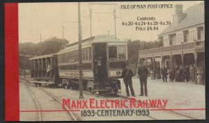 Isle of Man 1993 Manx Electric Railway stamp booklet mint NH