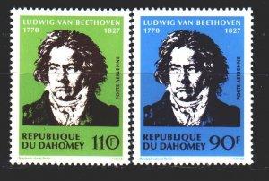 Benin. 1970. 437-38. Beethoven, composer. MNH.