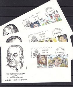 Spain, Scott cat. 2319-2324. Operettas issue. 3 First day covers. ^