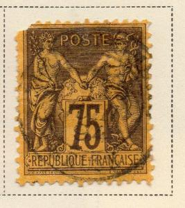 France 1879-90 Early Issue Fine Used 75c. NW-04842