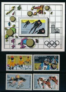 Burkina Faso - Lake Placid Olympic Games MNH Set (1980)