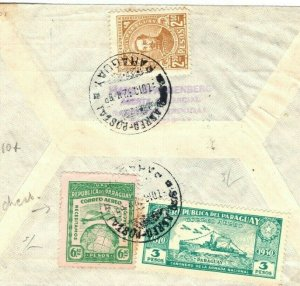 PARAGUAY Cover Air Mail SUPER CLEAN USAGE GB Scotland Dundee 1932{samwells}SV15