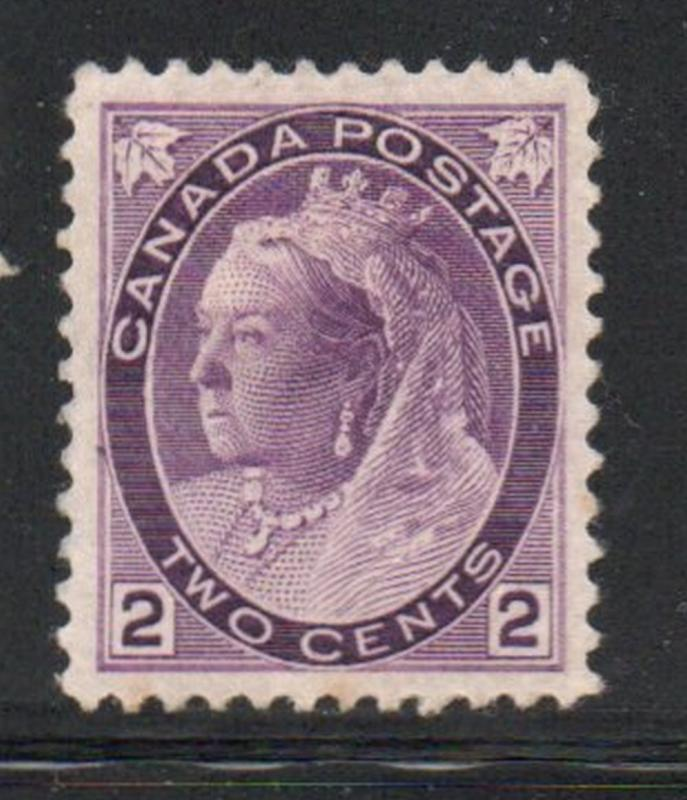 Canada Sc  76 1898 2c purple Victoria Numeral issue stamp mint