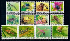 [70955] Singapore 1985 Insects Bee Wasp Cricket Dragonfly  MNH