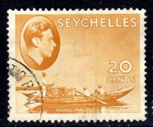 SEYCHELLES-- 1941- sg140a -  20 cents  - chalk - used -