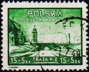 Poland. 1948 15z+5z S.G.627 Fine Used