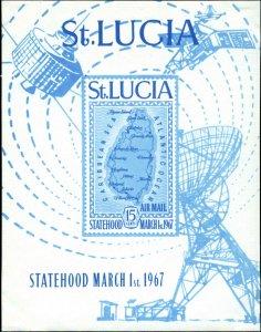 St. Lucia Scott #C1  Souvenir Sheet Mint Never Hinged