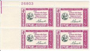 1143: Abraham Lincoln - Plate Block - MNH - 26803-UL