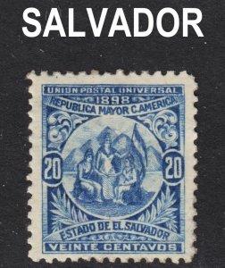 El Salvador Scott 184 F to VF mint OG HH. 1st issue.