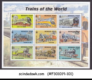 MONGOLIA - 2000 TRAINS OF THE WORLD / RAILWAY - MIN. SHEET MNH