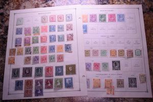 MONTENEGRO OLD COLLECTION ON ALBUM PAGES  Z126 SUPERIORSTAMPS