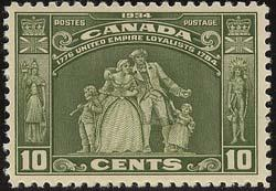 Canada Sc. #209 Mint F+ LH Cat. US $28. = CDN. $35. 1934 10c United Empire Loyal