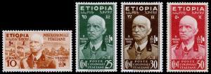 Ethiopia-Italian Occupation Scott N1, N3-5 (1936) Mint H VF, CV $39.00 B