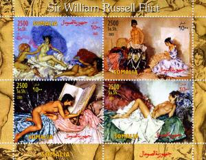 Somalia 2003 SIR WILLIAM RUSSELL FLINT Nudes Painting Sheet Perforated Mint (NH)