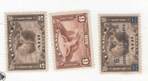 CANADA (MK94) # C2,C4-C5  VF-MH  5,6cts 3 DIFFERENT AIR MAIL STAMPS CAT VAL $156