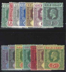 Gold Coast 1913-1921 SC 69-82 MLH Set