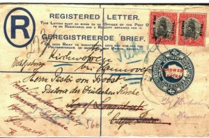 SOUTH WEST AFRICA Cover Registered Cape Town Forwarded GERMANY Berlin 1927 SA42