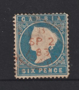 Gambia a 6d QV embossed used from the 1880 series BUT!!!!