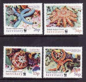 BIOT-Sc#231-4-unused NH set-Marine Life-Starfish-2001-