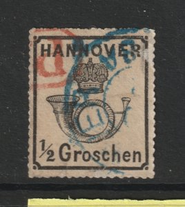 Hanover an old 0.5gr used perf 16
