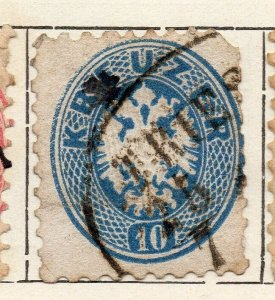 Austria 1863 Early Issue Fine Used 10kr. NW-11532