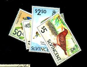 St Vincent #291-4 MINT F-VF OG NH