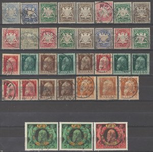 COLLECTION LOT # 5366 BAVARIA 34 STAMPS 1888+ CLEARANCE CV+$22