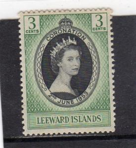 Leeward Islands Q E ll Coronation MH